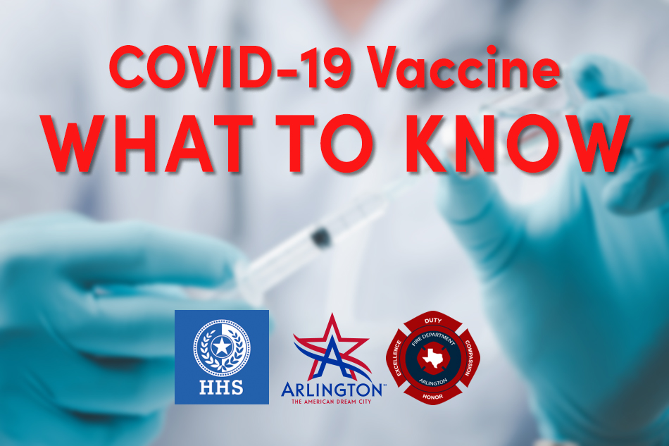 IMPORTANT INFORMATION ABOUT RECEIVING A COVID-19 VACCINE FROM THE ARLINGTON FIRE DEPARTMENT