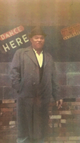 Clarence Purvis outside The Dragnet Club