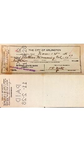 Arthur Manning- Paycheck with 'Col' designation