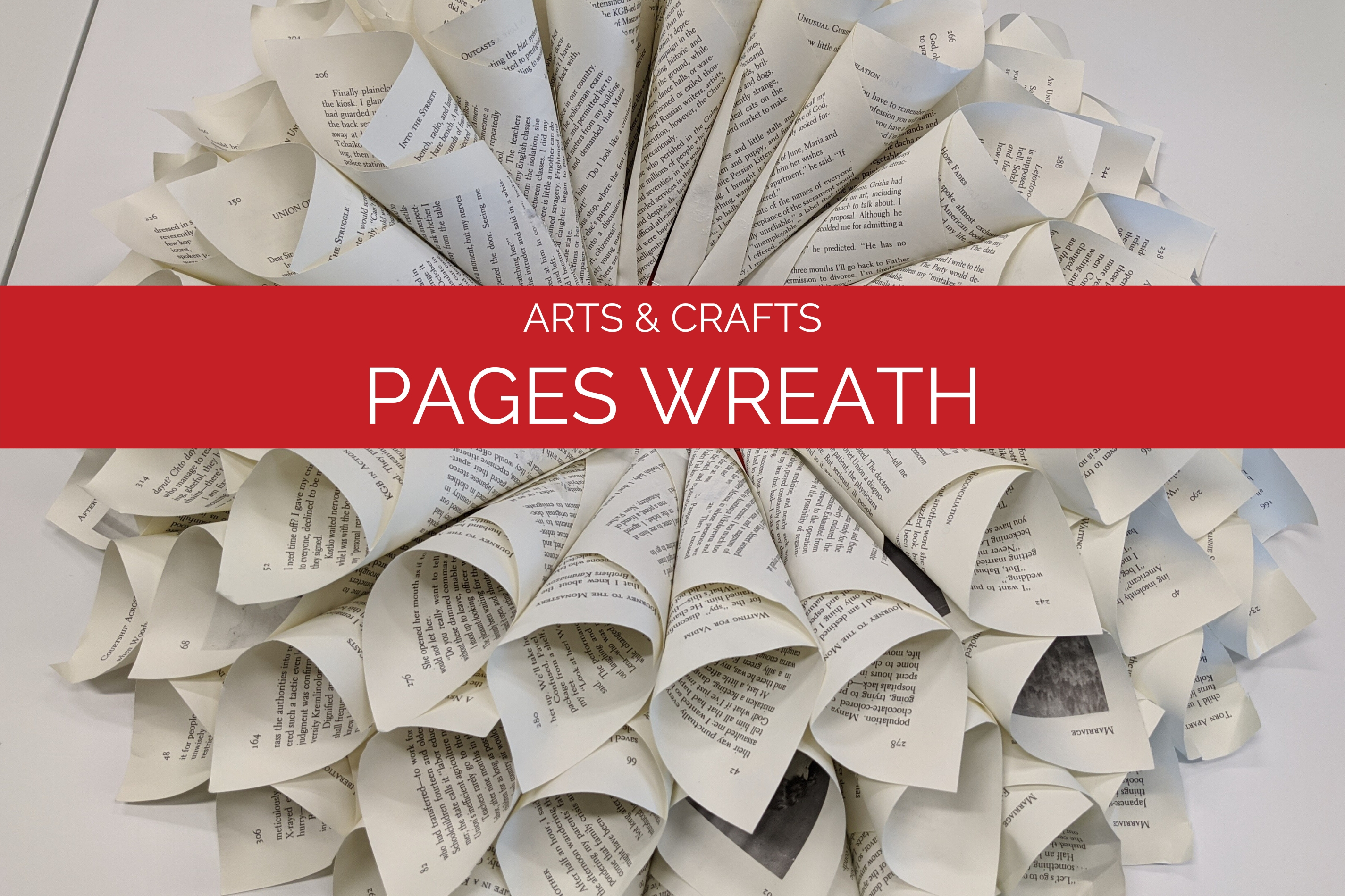 Arts and Crafts: Pages Wreath