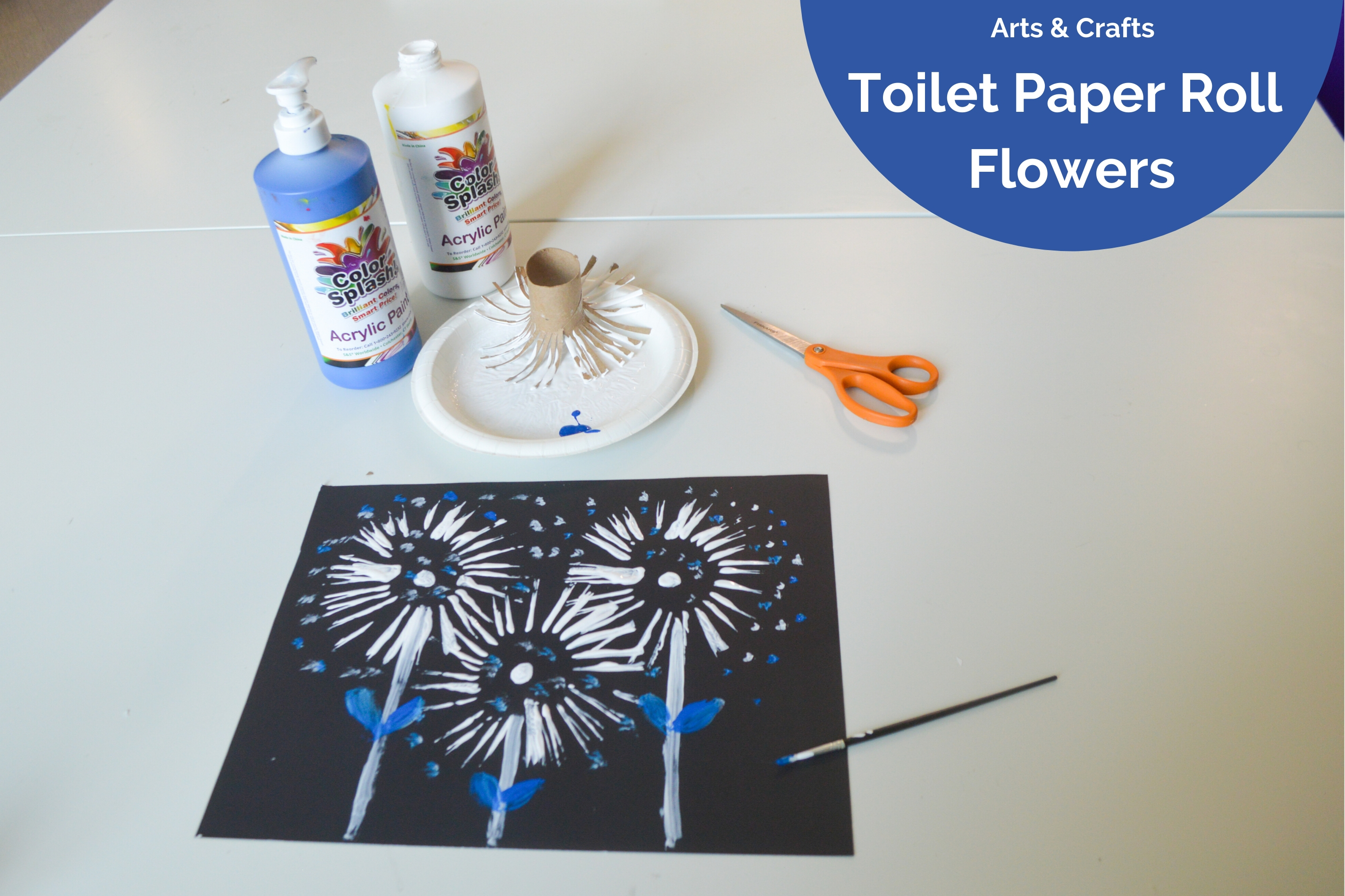 Arts and Crafts: Toilet Paper Roll Flowers